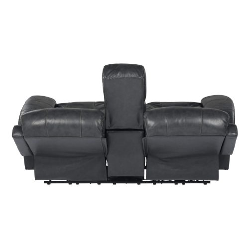 Luxe Collection - Reclining Loveseat - back view in full recline - SU-9102-94-1394-73