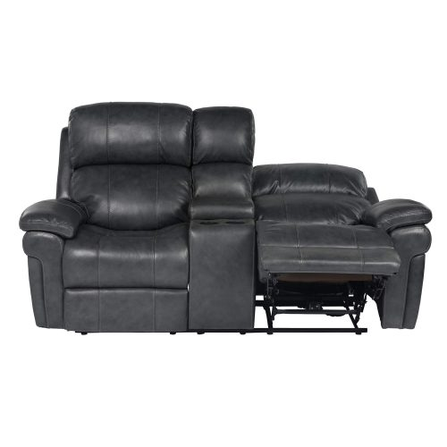 Luxe Collection - Reclining Loveseat - front view - end in full recline - SU-9102-94-1394-73