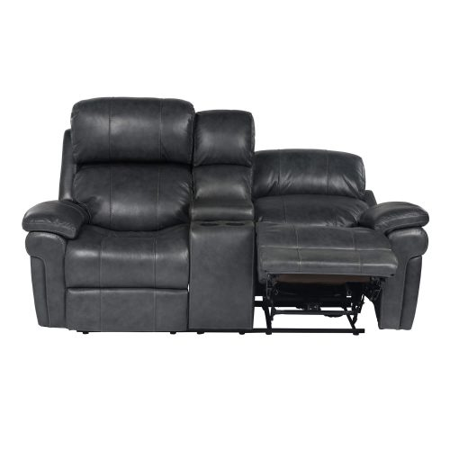 Luxe Collection - Reclining Loveseat - front view - end in part recline - SU-9102-94-1394-73