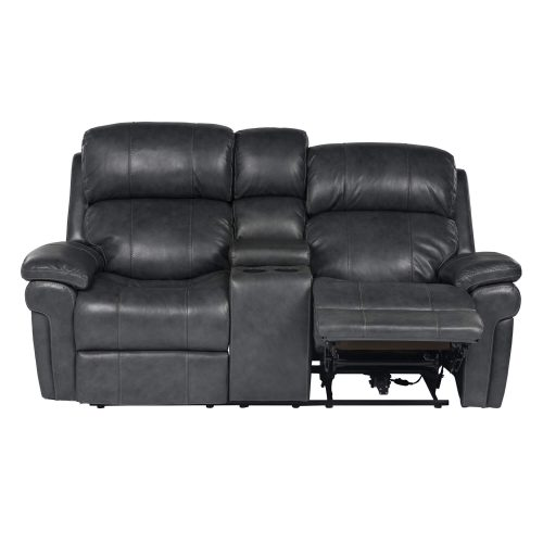 Luxe Collection - Reclining Loveseat - front view - end in partial recline - SU-9102-94-1394-73