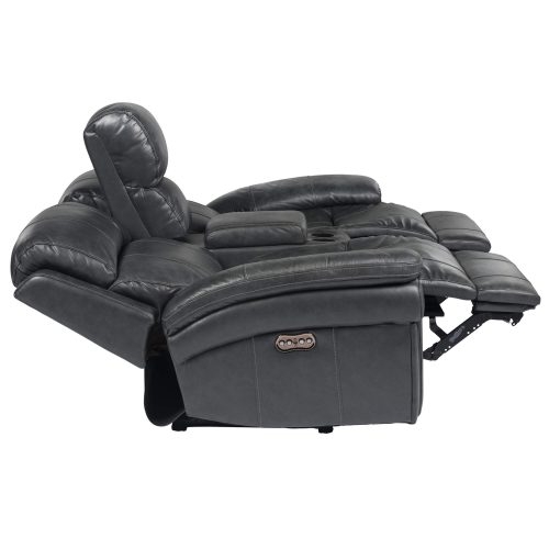 Luxe Collection - Reclining Loveseat - side view with ends in full recline - SU-9102-94-1394-73