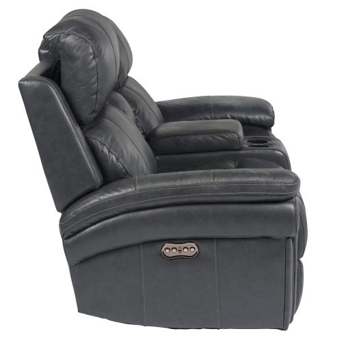 Luxe Collection - Reclining Loveseat - side view with power headrest forward - SU-9102-94-1394-73