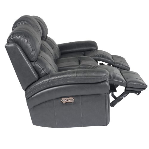 Luxe Collection - Reclining Sofa - side view with legs raised - SU-9102-94-1394-58