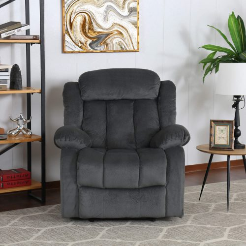 Madison Collection - Reclining armchair shown in Charcoal - living room setting - front view - SU-ZY550-108