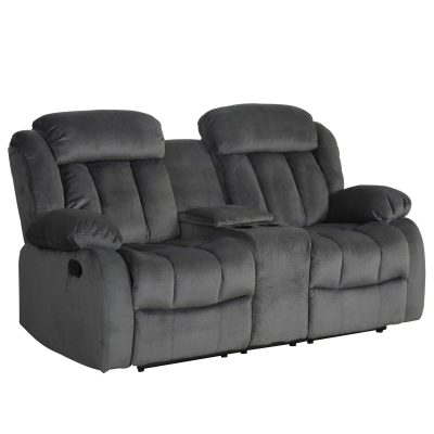 Madison Collection - Reclining loveseat shown in Charcoal - SU-ZY550-206