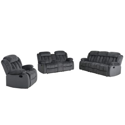 Madison Collection - Reclining sofa - loveseat- armchair - shown in Charcoal - SU-ZY550-3PCSET