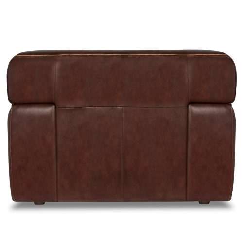 Milan Leather Collection - Armchair in brown - back view - SU-AX6816-C