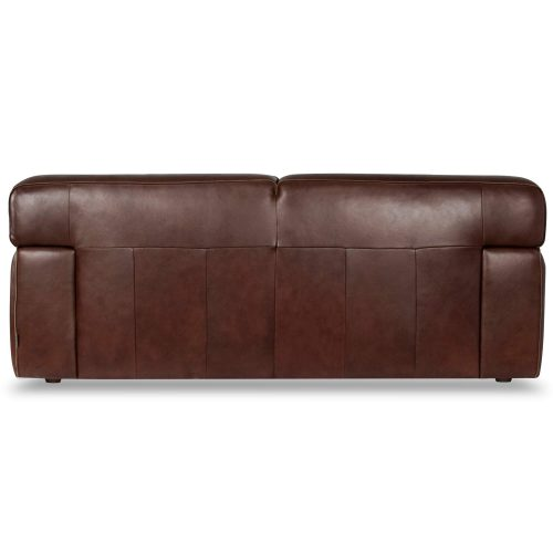 Milan Leather Loveseat - back view – Brown - SU-AX6816-L