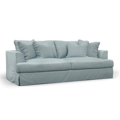 Newport Slipcovered Collection - Sofa - Light Blue - angled view - SY-130000-391043