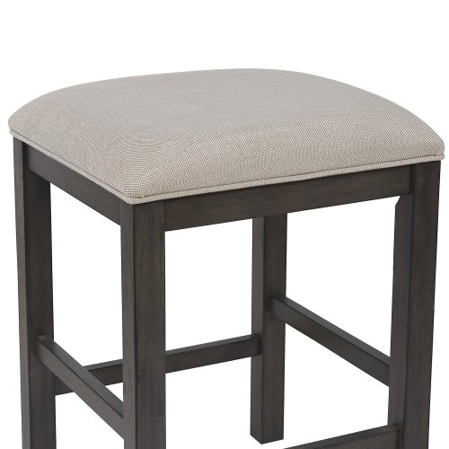 Shades of Gray Collection - Backless upholstered barstool - detail of stool construction - DLU-EL-B300