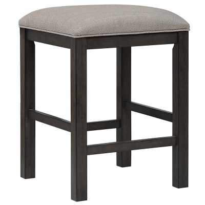 Shades of Gray Collection - Backless upholstered barstool - three-quarter view - DLU-EL-B300