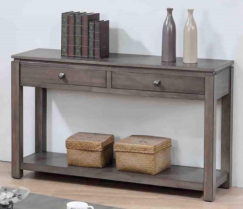 Shades of Gray Collection - Sofa console with drawers and shelf - living room setting DLU-EL1602-04
