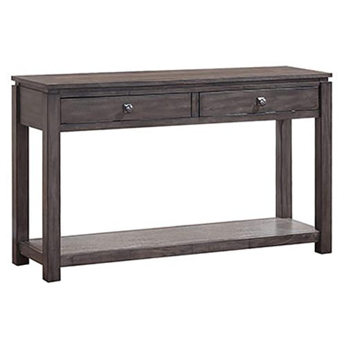 Shades of Gray Collection - Sofa console with drawers and shelf - three-quarter view DLU-EL1602-04