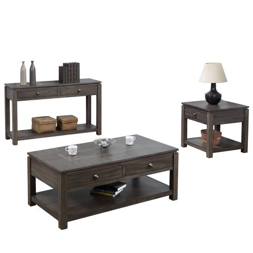 Shades of Grey Collection - end table - sofa console - coffee table DLU-EL1602-03-04-08