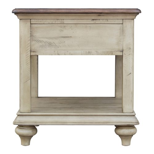 Shades of Sand End table - back view - CF-2391-0490