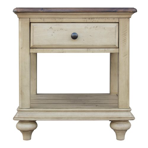 Shades of Sand End table - front view - CF-2391-0490