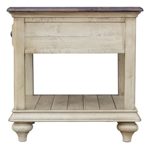 Shades of Sand End table - side view - CF-2391-0490