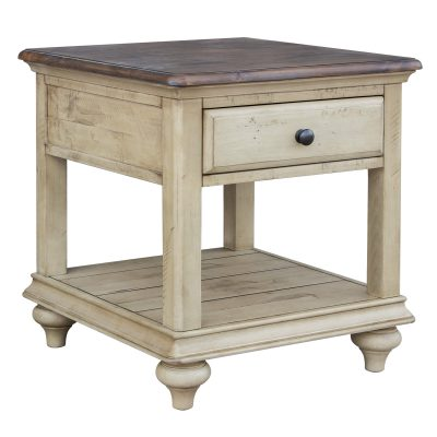 Shades of Sand End table - three-quarter view - CF-2391-0490