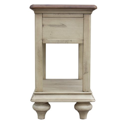 Shades of Sand Narrow End table - back view - CF-2393-0490