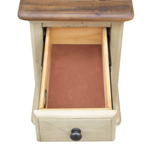 Shades of Sand Narrow End table - drawer open - CF-2393-0490