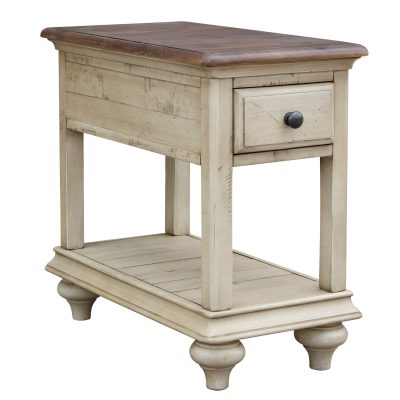 Shades of Sand Narrow End table - three-quarter view - CF-2393-0490