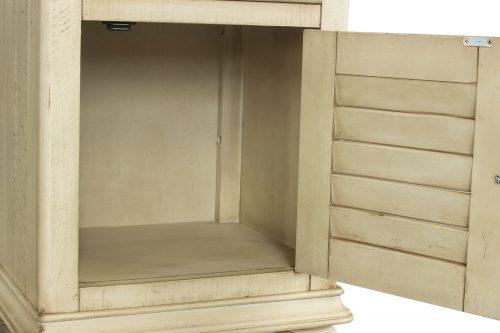 Shades of Sand Nightstand with door - door open - CF-2338-0490