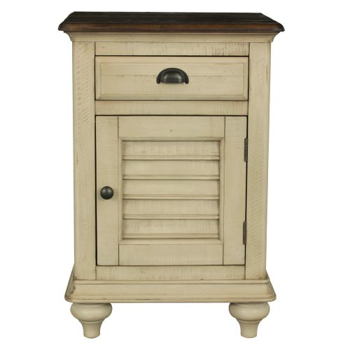 Shades of Sand Nightstand with door - front view - CF-2338-0490