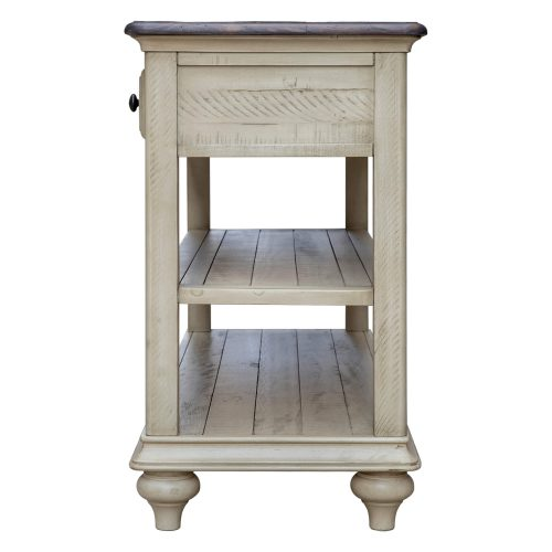 Shades of Sand Three drawer table - side view - CF-2392-0490