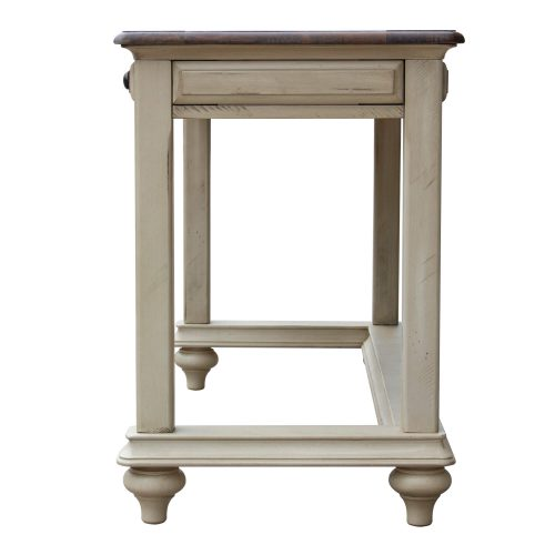 Shades of Sand Vanity table - side view - CF-2386-0490