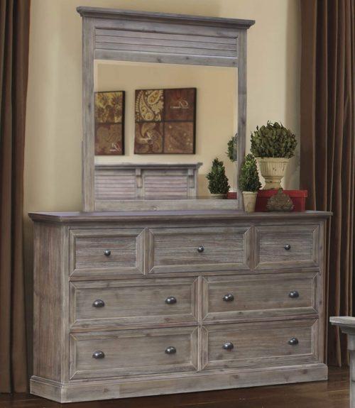 Solstice Gray Collection - Bedroom Mirror - Bedroom setting - CF-3034-0441