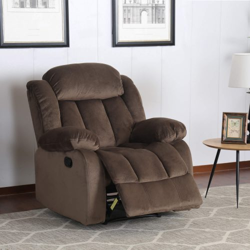 Teddy Bear Collection - Reclining armchair - living room setting three-quarter view partial recline - SU-ZY660-108