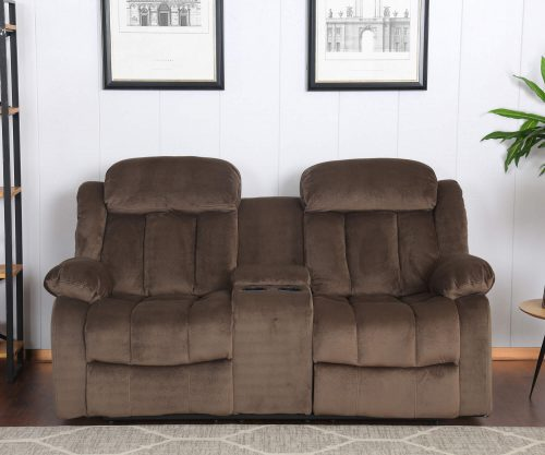 Teddy Bear Collection - Reclining loveseat - living room setting front view - SU-ZY660-206
