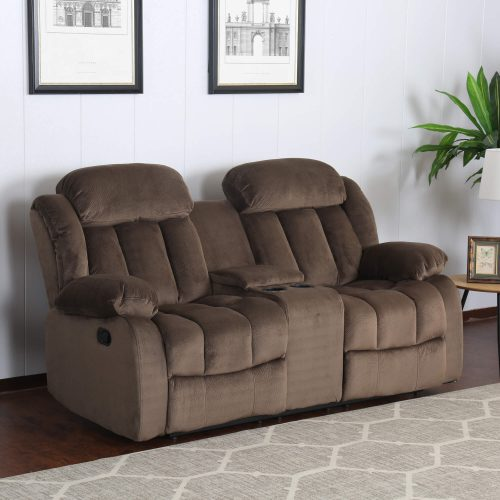 Teddy Bear Collection - Reclining loveseat - living room setting three-quarter view - SU-ZY660-206
