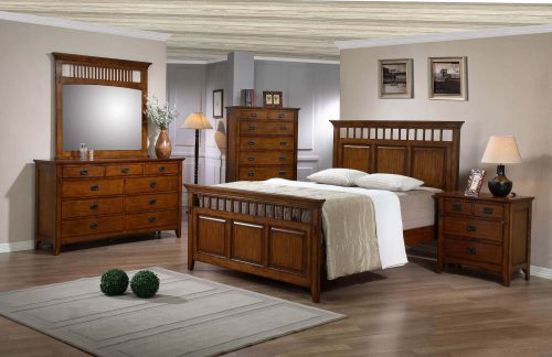 Tremont Collection - Queen bed frame - nightstand - chest - dresser with mirror - SS-TR900