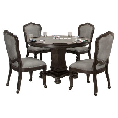 Vegas Collection 5 piece gaming table and chairs - CR-87711-TCP-5PC
