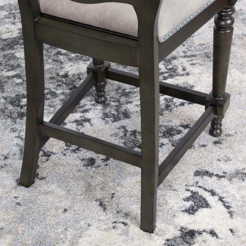 Vegas Collection 24 inch high gaming chair - leg construction view - CR-87711-24