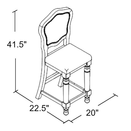 Vegas Collection 24 inch high gaming chair - schematic - CR-87711-24