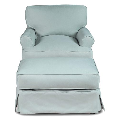 Horizon Slipcover Collection - Chair and Ottoman front view SU-117620-30-391043