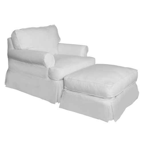 Horizon Slipcover Collection - Chair and Ottoman three-quarter view SU-117620-30-423080