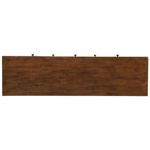 Amish Dining Collection - Sideboard server in dark-Oak finish top view DLU-BR-SB-AM