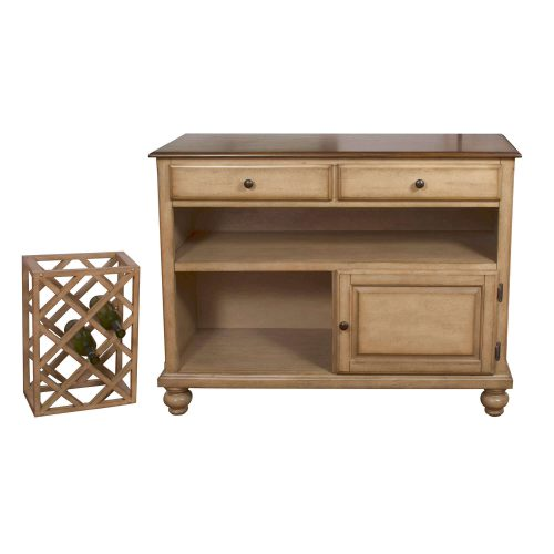 Amish Dining Collection - Sideboard server in light-Oak finish with wine rack removed DLU-BR-SER-PW