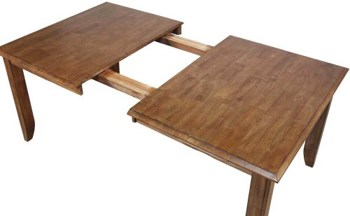 Amish Dining - Extendable dining table - open for leaf - DLU-BR4272-AM
