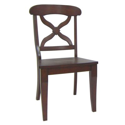 Andrews Dining - Dining chair chestnut finish - front view DLU-ADW-C12WD-CT-2