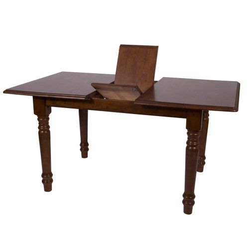 Andrews Dining - Extendable dining table finished in distressed chestnut detail of butterfly leaf DLU-TLB3660-CT