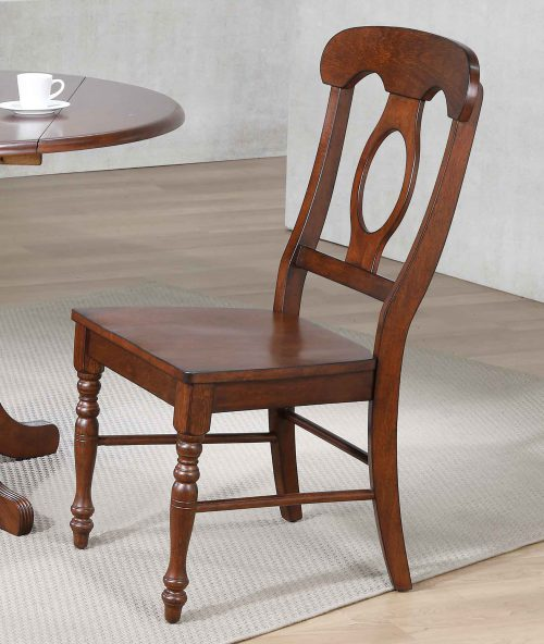 Andrews Dining - Napoleon dining chair finished in chestnut - dining room setting DLU-ADW-C50-CT-2