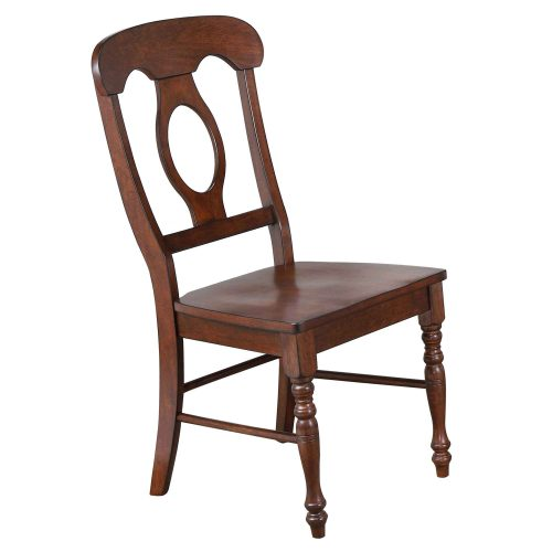 Andrews Dining - Napoleon dining chair finished in chestnut - three-quarter view DLU-ADW-C50-CT-2