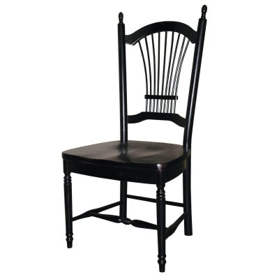 Black Cherry Selections - Allenridge dining chair - 42 inches tall - finished in antique black DLU-C07-AB-2