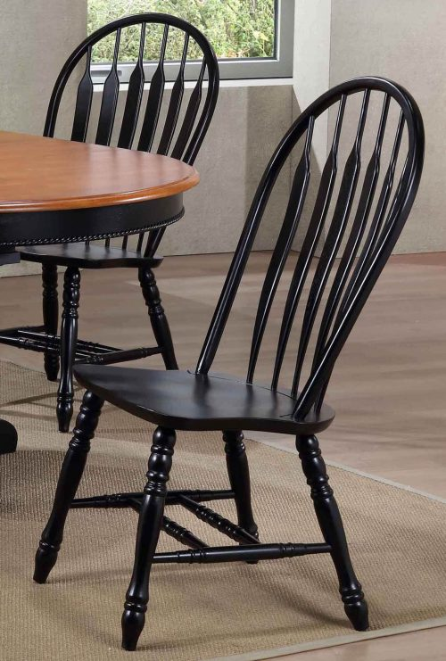 Black Cherry Selections - Comfort back dining chair - finished in antique black - dining room setting - DLU-4130-AB-2