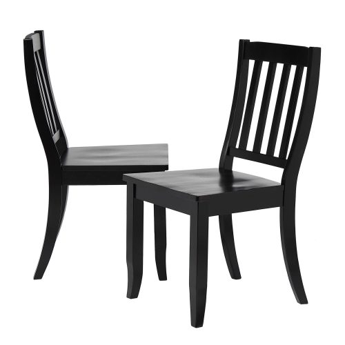 Black Cherry Selections - Schoolhouse dining chair finished in antique black DLU-C20-AB-2
