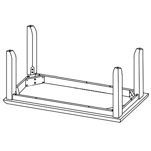 Brook Dining - Dining bench assembly diagram - DLU-BR-BENCH-PW-RTA
